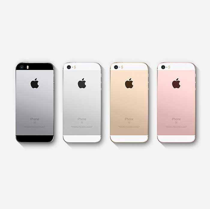 Refurbished iPhone SE 4 colors back