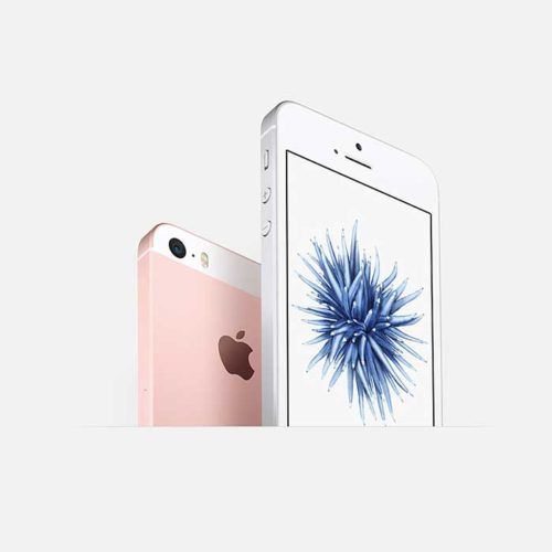 Refurbished iPhone SE Pink back and front