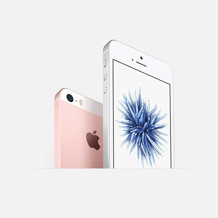 Refurbished iPhone SE Pink back and front