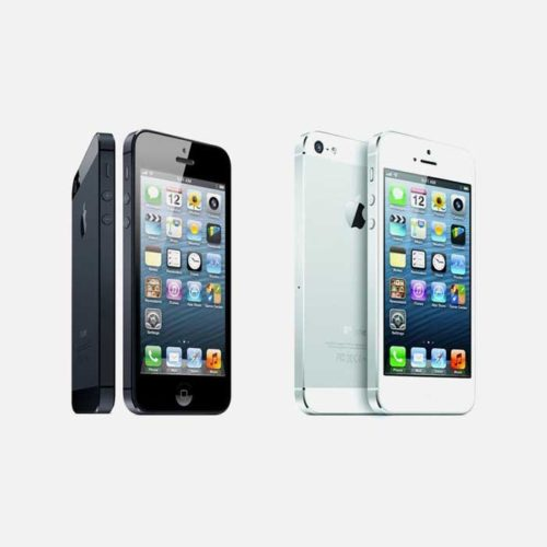 iPhone 5 White, Black front and back each